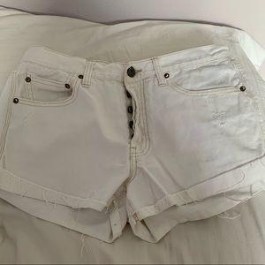 BDG White Tomgirl Shorts